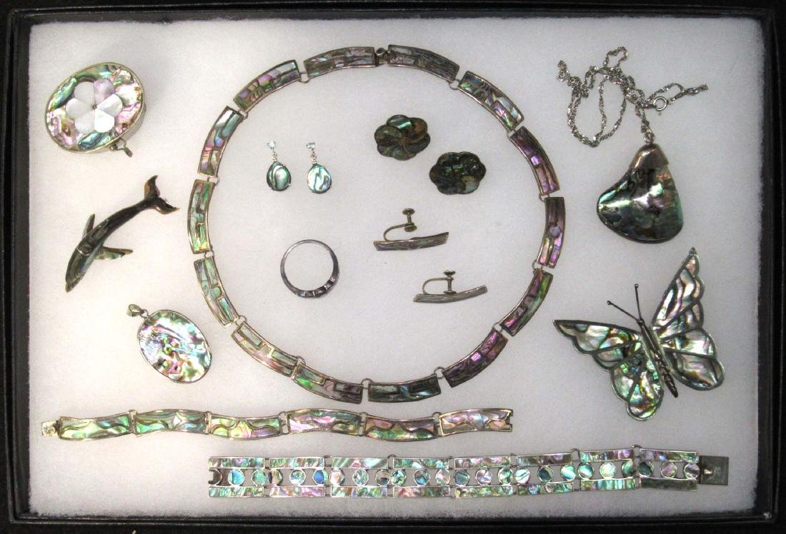 Sterling & Abalone Jewelry Lot