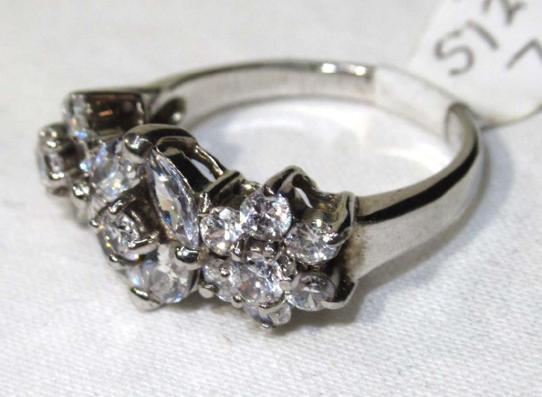 Sterling & Cubic Zirconium Ring Sz 7