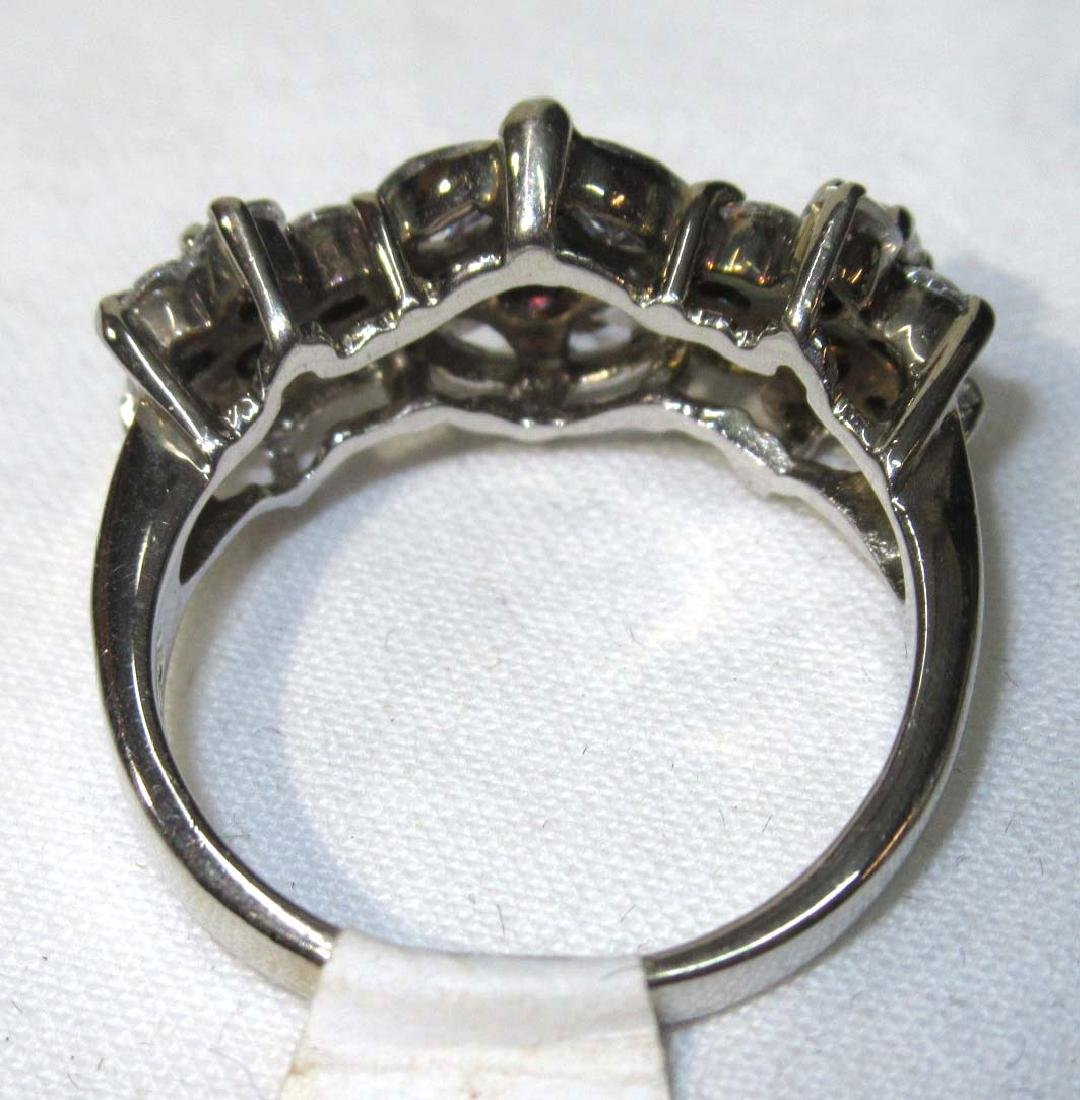Sterling & Cubic Zirconium Ring Sz 7 - 3