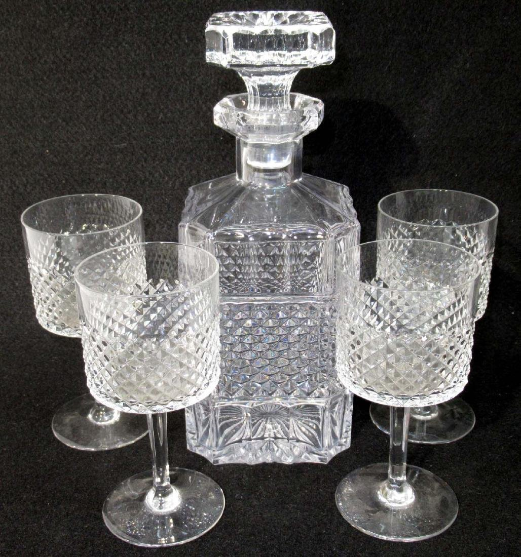 5pc Crystal Decanter Set