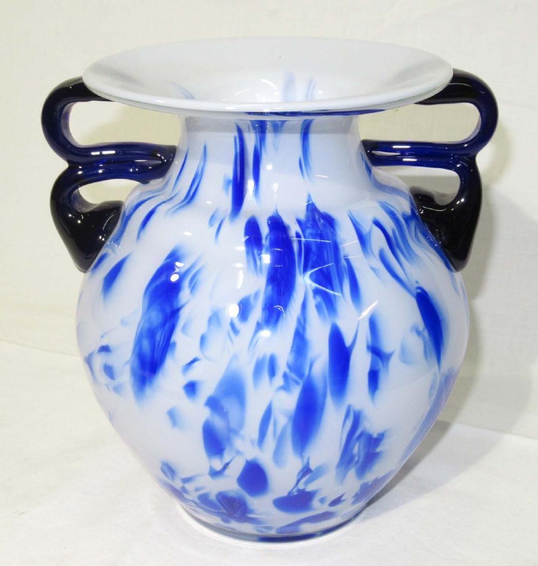 Art Glass Vase Mid Century
