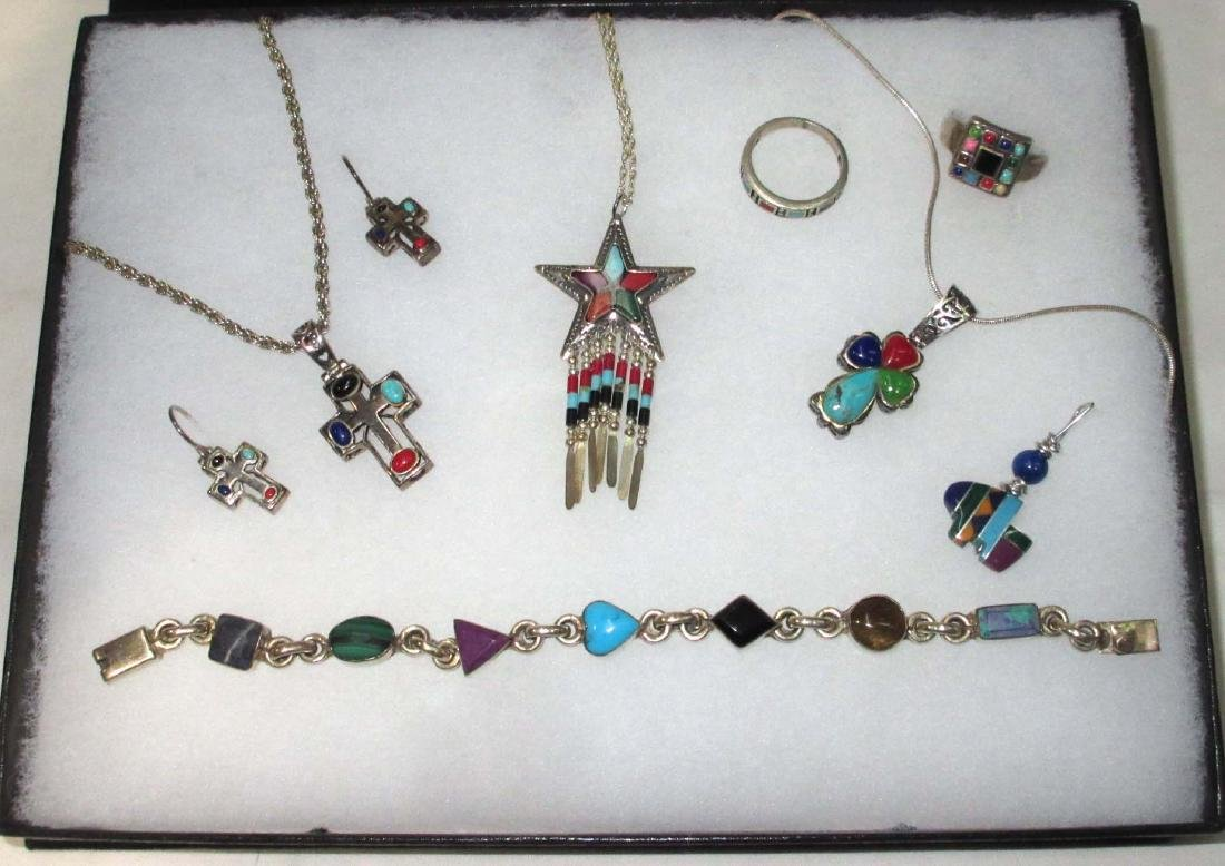 Sterling & Multi Stone Jewelry Lot