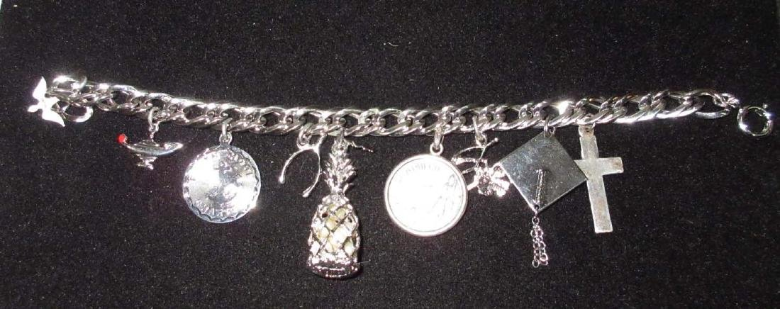 Sterling Charm Bracelet w/ Sterl. Charms