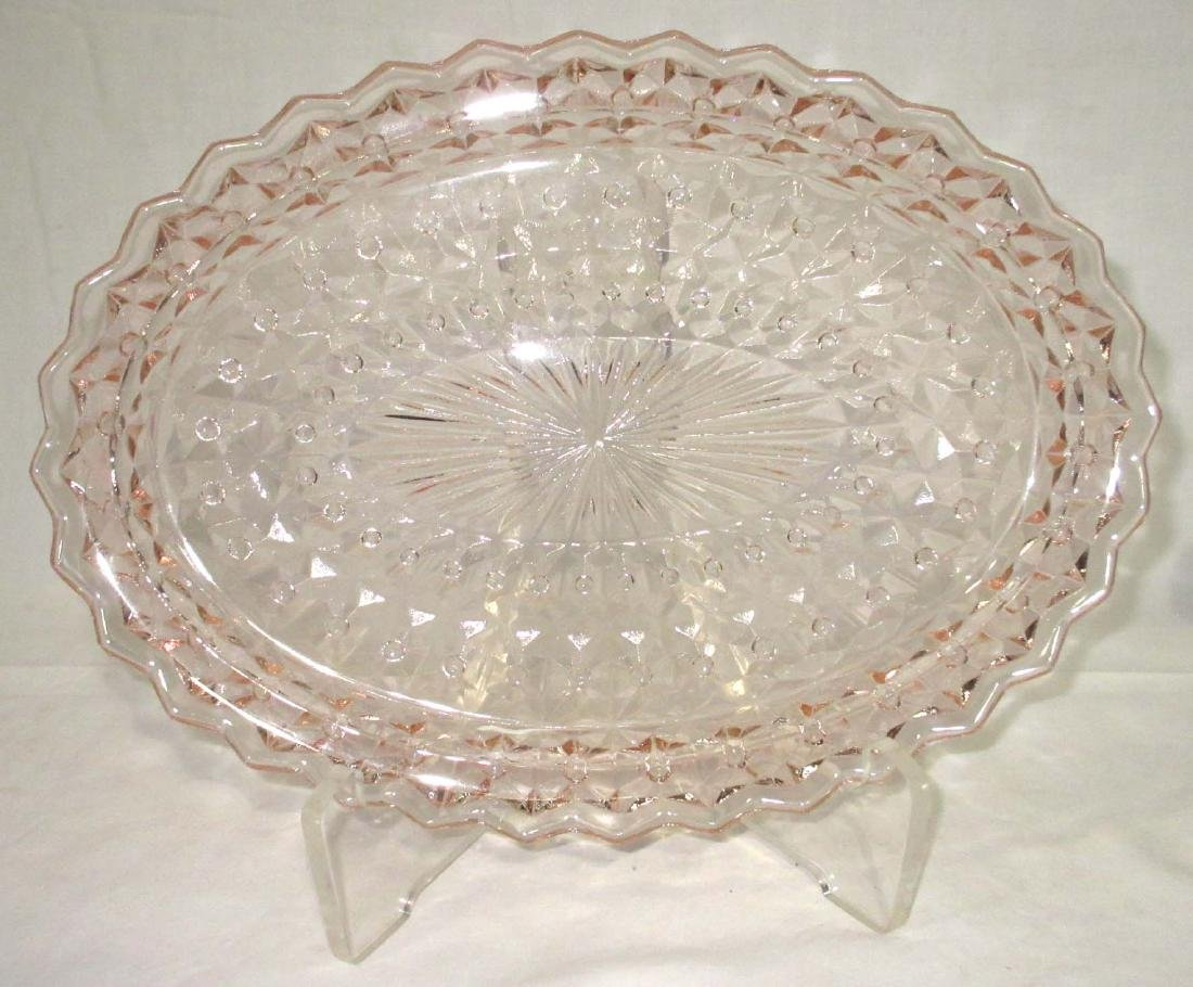 6pc Pink Depression Glass - 2