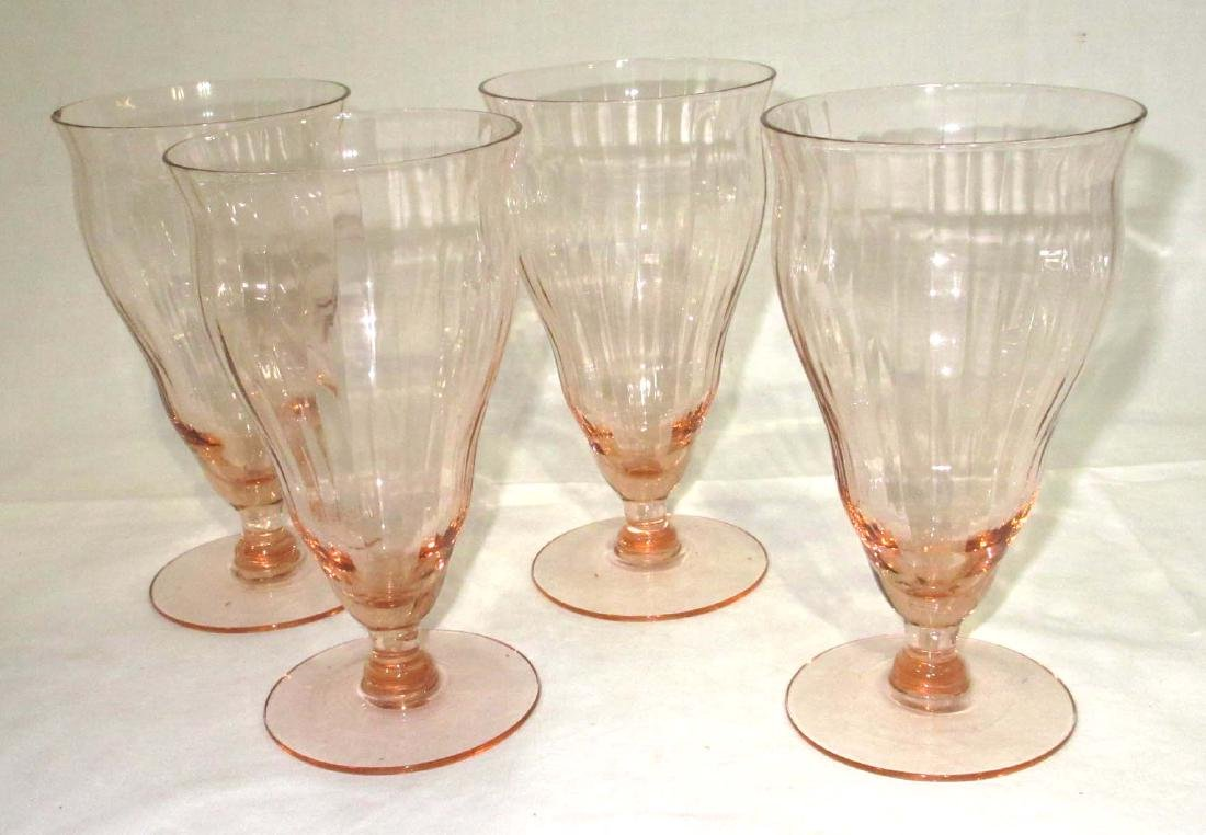 6pc Pink Depression Glass - 4