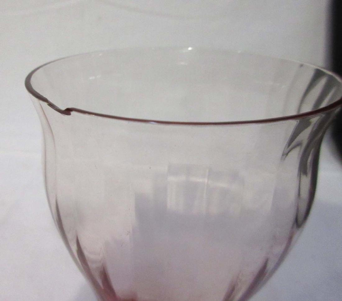 6pc Pink Depression Glass - 5
