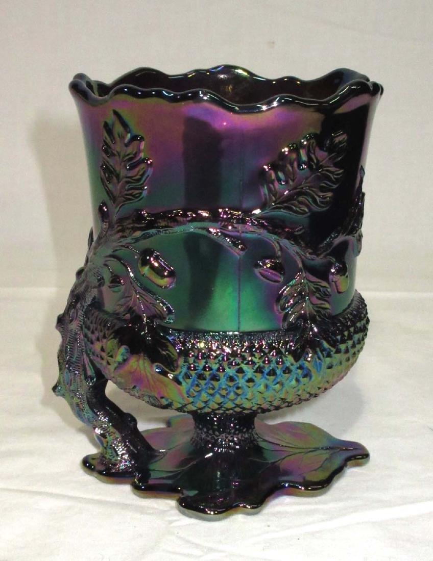 Carnival Glass Spooner w/ Acorns - 2