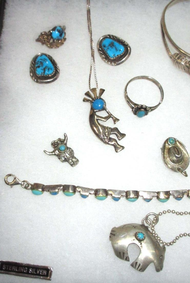 Sterling & Turquoise Lot Inc. Kokopelli Necklace - 2