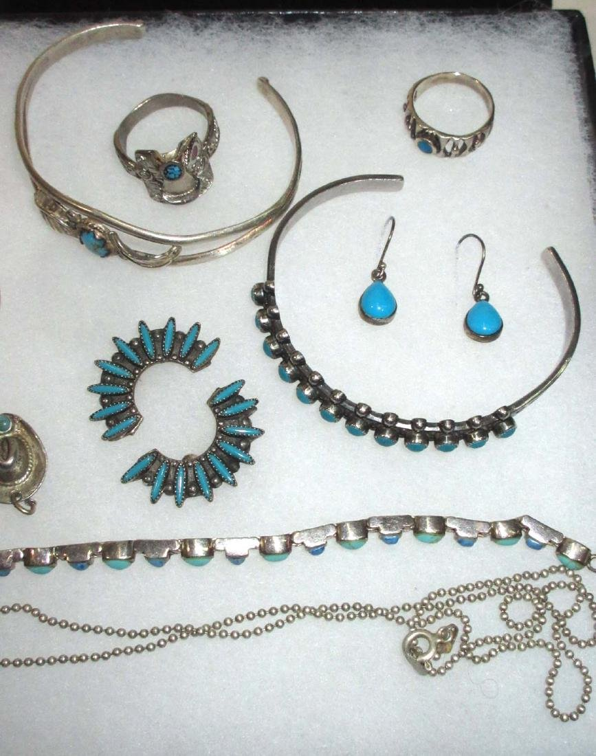 Sterling & Turquoise Lot Inc. Kokopelli Necklace - 3