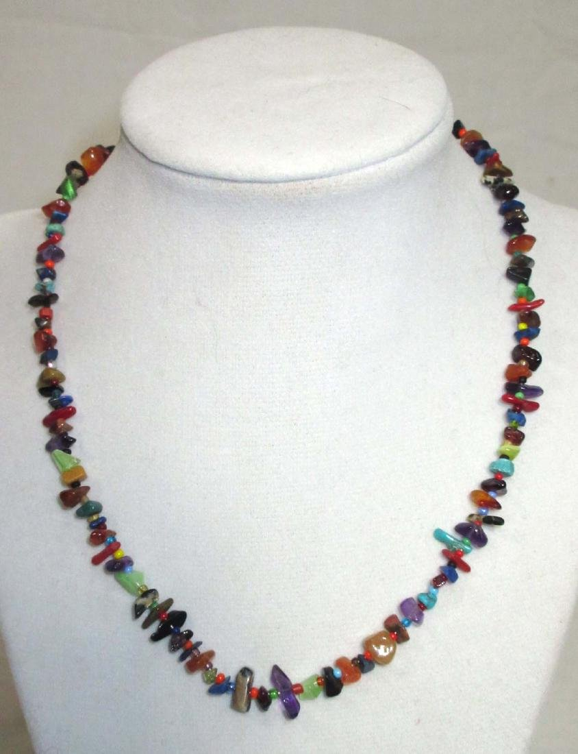 Sterling Mexican Multi Stone Jewelry - 5