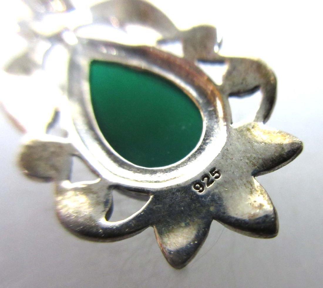 Sterling w/ Malachite, Onyx & Turquoise Jewelry - 8