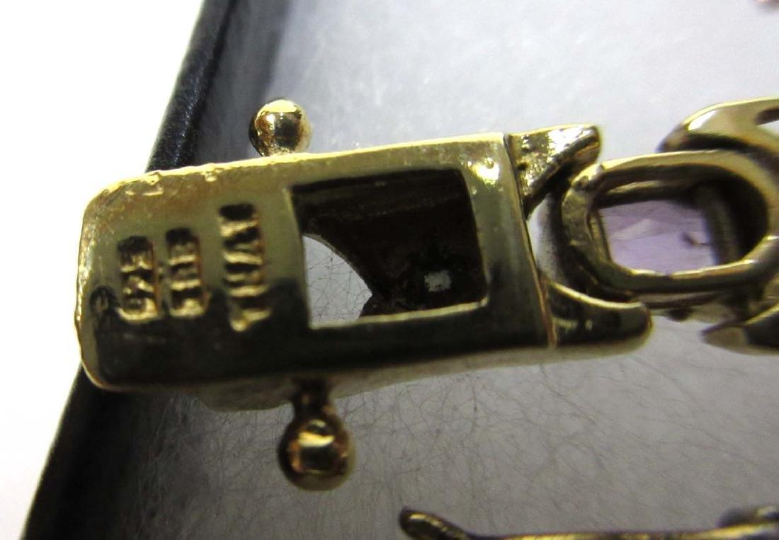 5 Sterling & Multi Stone Bracelets - 3