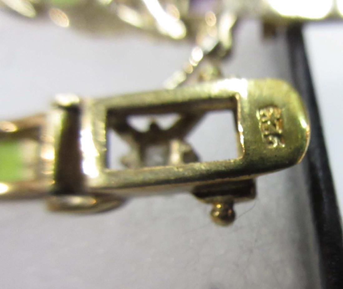 5 Sterling & Multi Stone Bracelets - 4