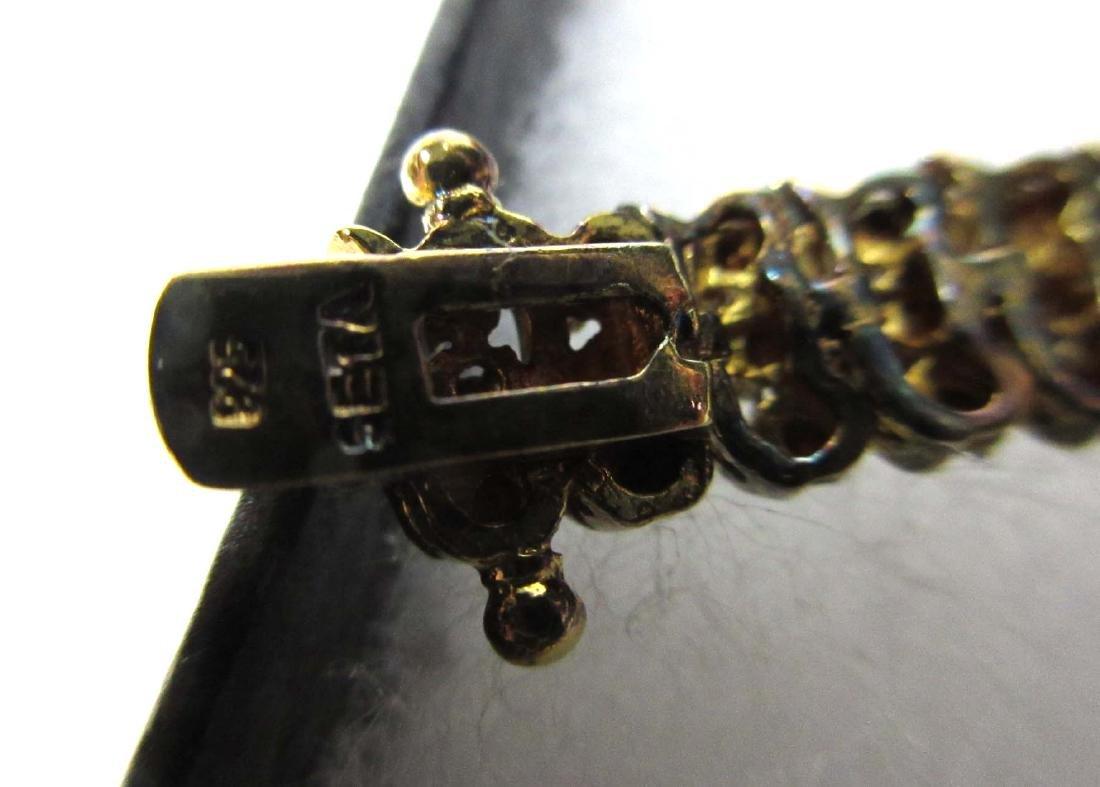 5 Sterling Rhinestone, Crystal & Sapphire Bracelets - 3