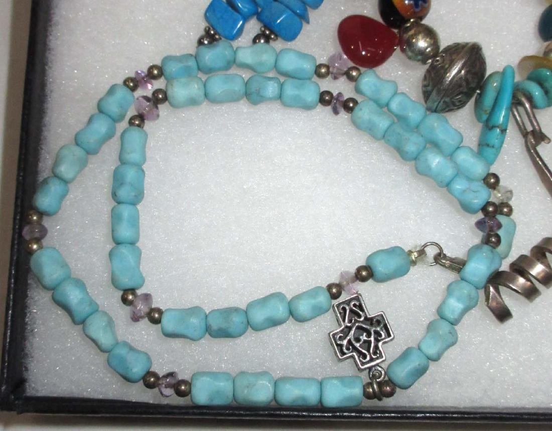 Lot of Multi Stone Fetish Necklaces & Navajo Style - 2