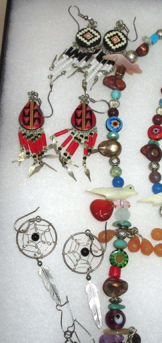 Lot of Multi Stone Fetish Necklaces & Navajo Style - 3