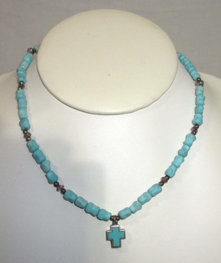 Lot of Multi Stone Fetish Necklaces & Navajo Style - 8