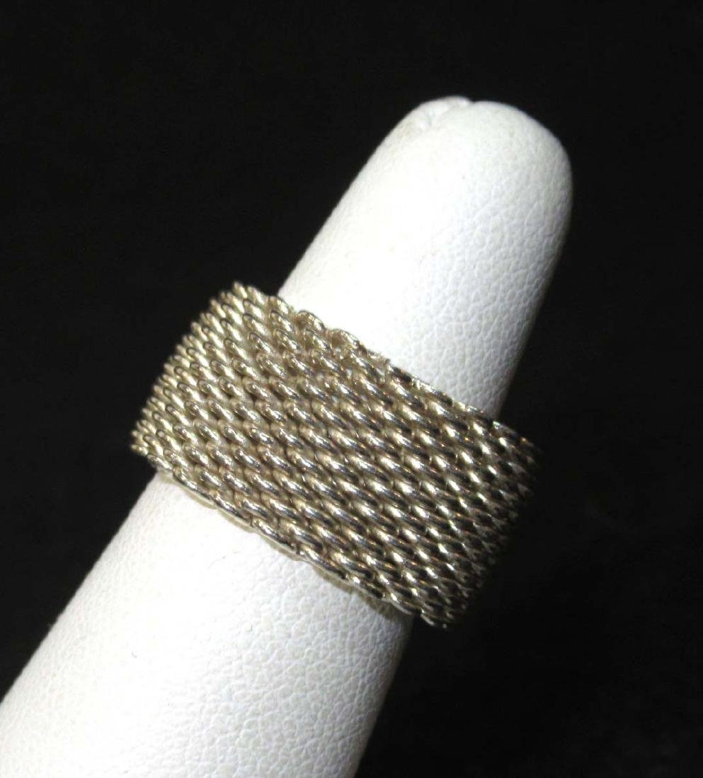 Tiffany & Co. Sterling Somerset Mesh Ring