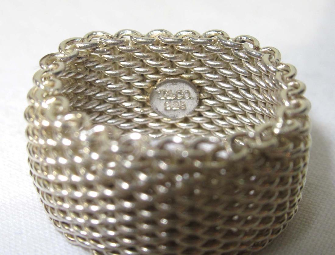 Tiffany & Co. Sterling Somerset Mesh Ring - 3