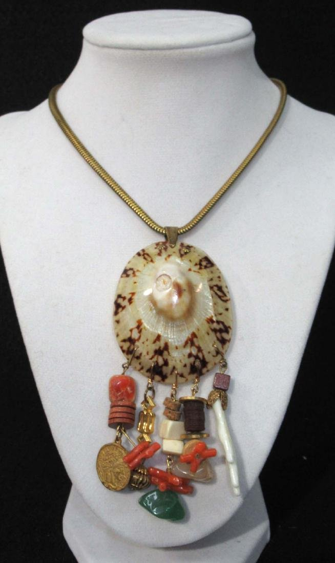 Sgnd Miriam Haskell Organic Necklace