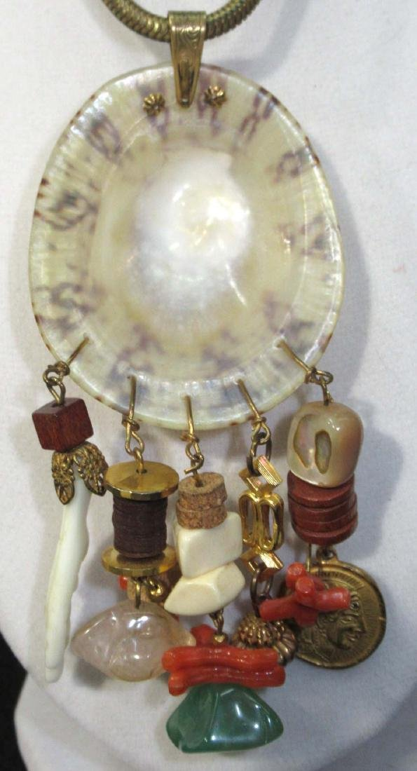 Sgnd Miriam Haskell Organic Necklace - 4
