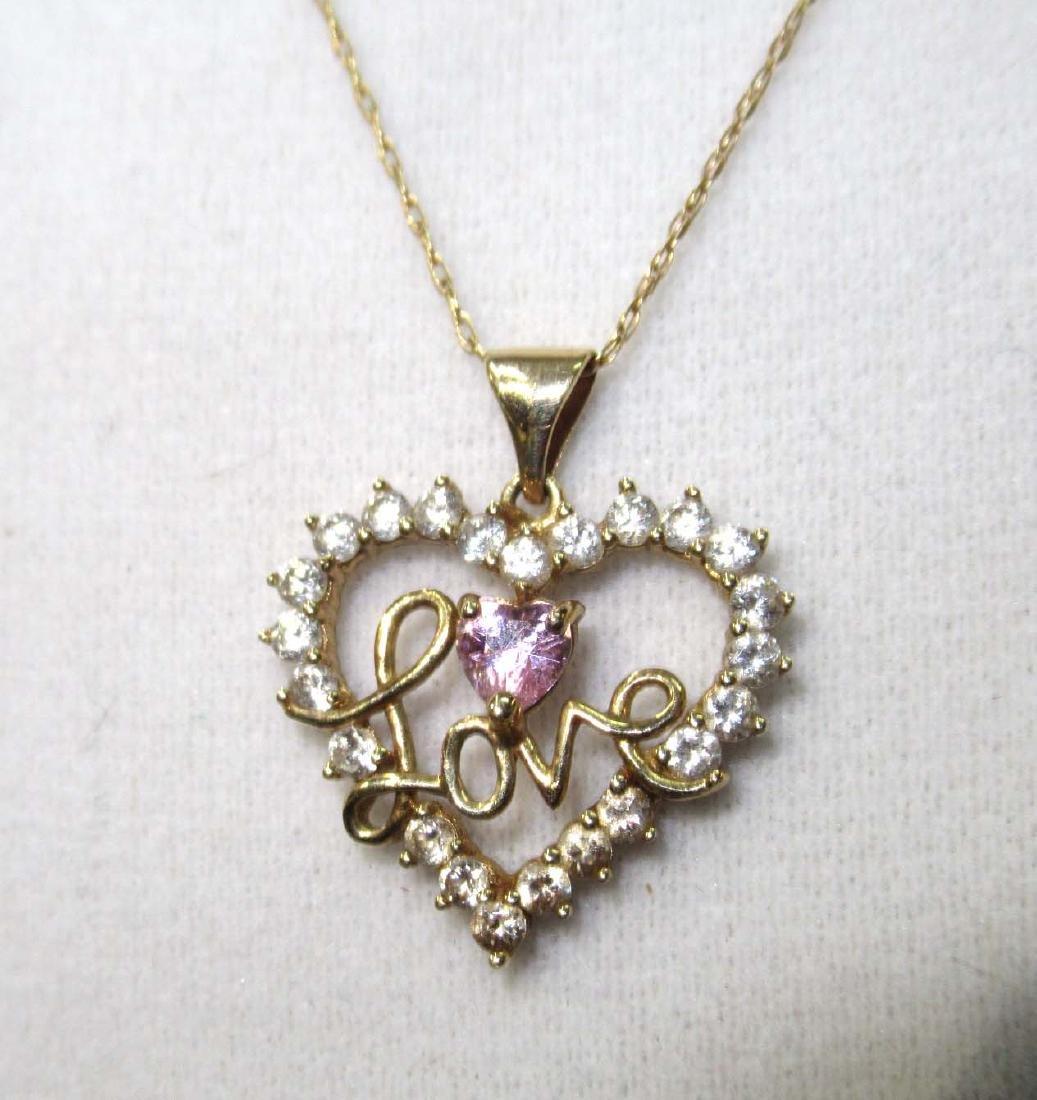 10K Chain & Pendant Necklace