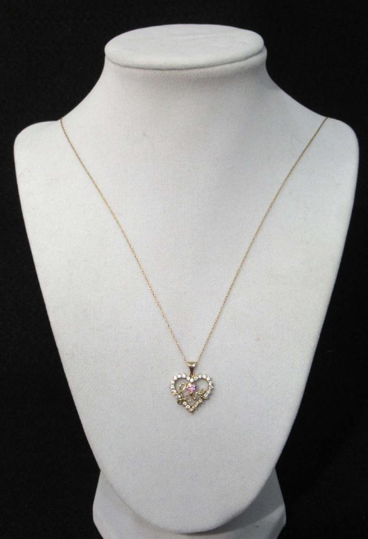 10K Chain & Pendant Necklace - 2
