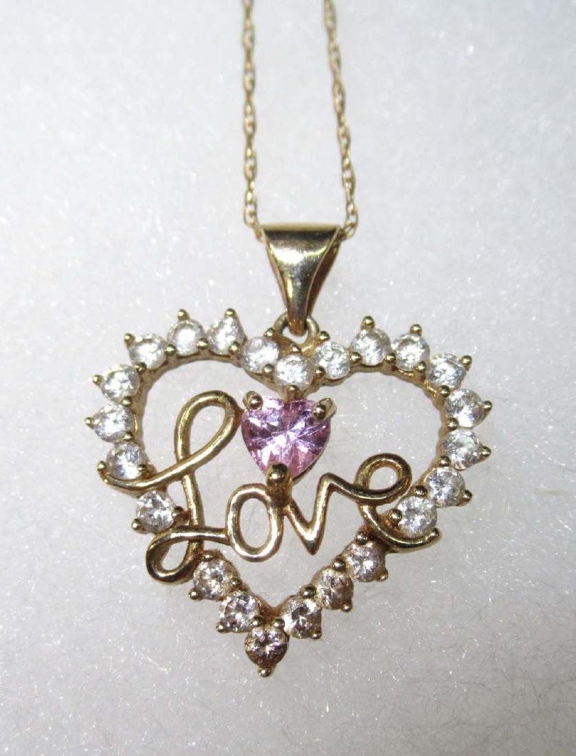 10K Chain & Pendant Necklace - 3