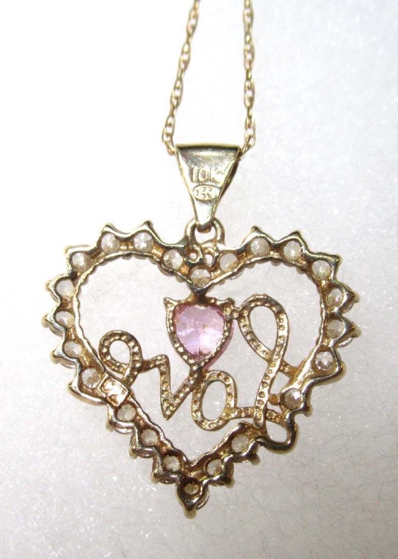 10K Chain & Pendant Necklace - 4