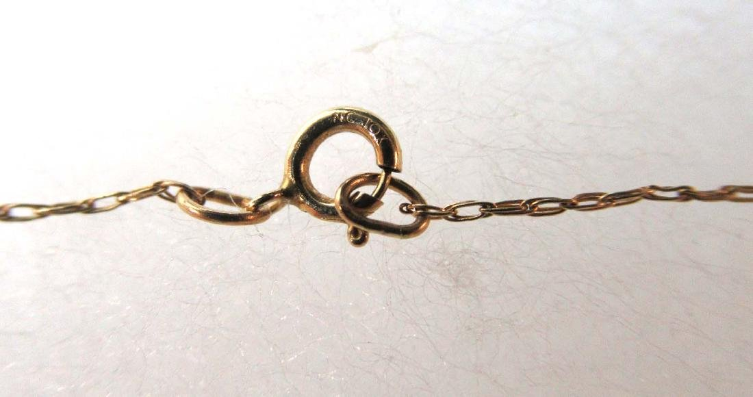 10K Chain & Pendant Necklace - 5