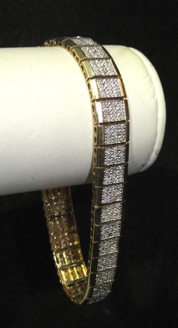 10K Diamond Bracelet