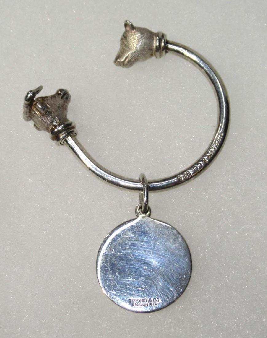 Tiffany & Co. Sterling Bull & Bear Key Ring - 2