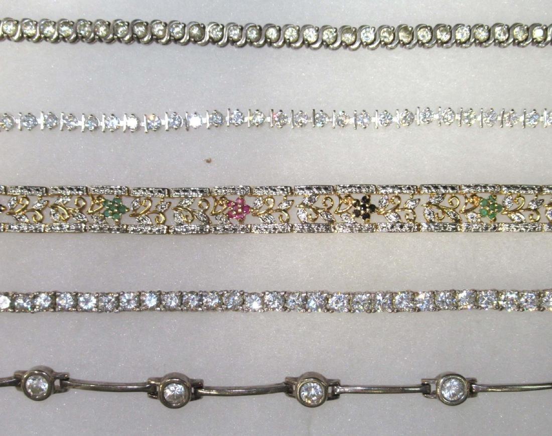 5 Sterling Bracelets - 2