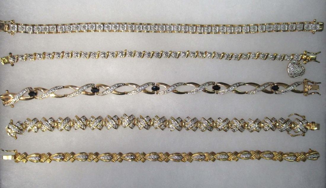 5 Sterling Bracelets