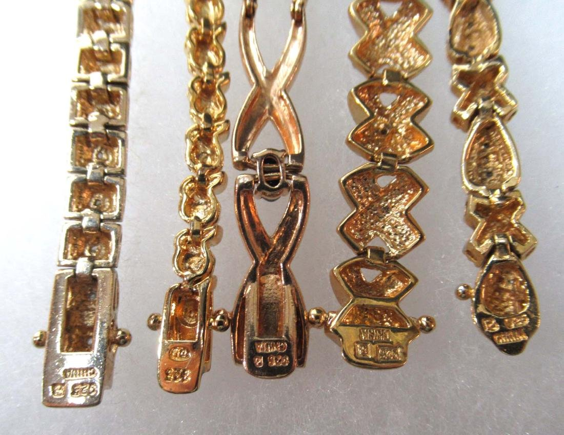 5 Sterling Bracelets - 4