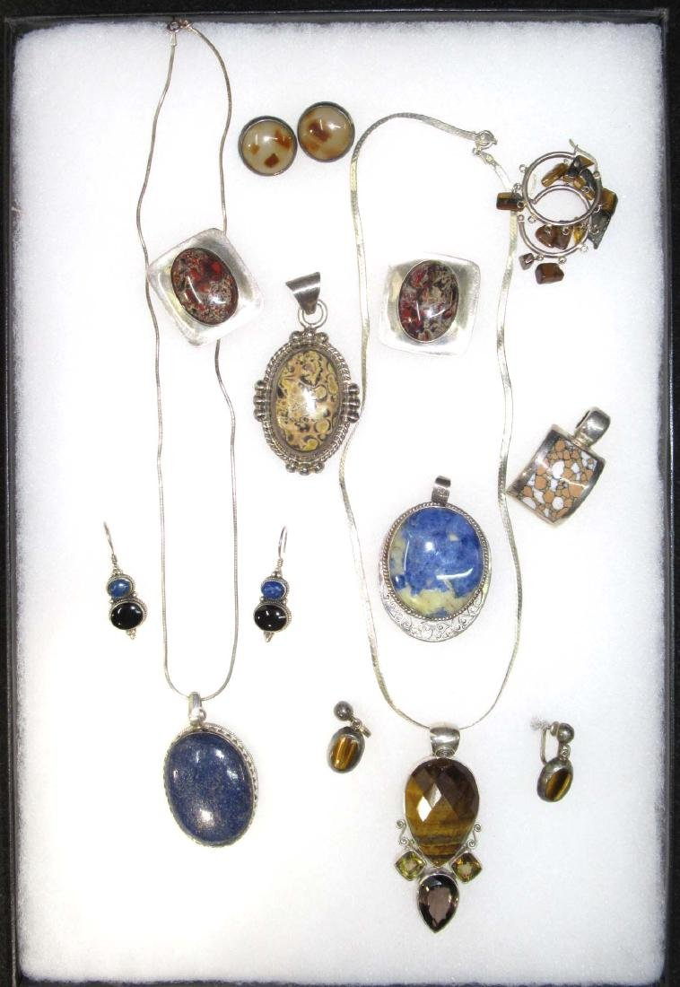 Goldstone, Lapis, Multi Stone Sterling Jewelry