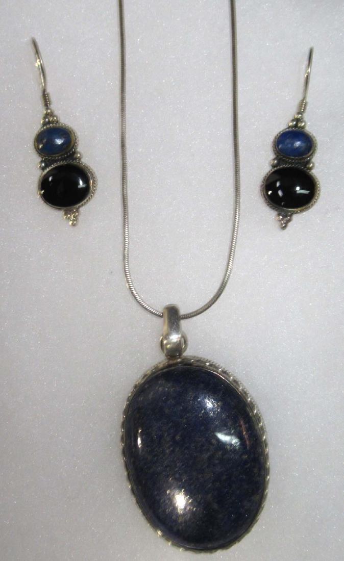 Goldstone, Lapis, Multi Stone Sterling Jewelry - 2