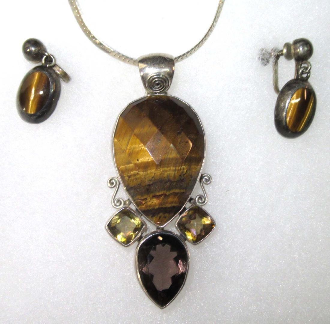 Goldstone, Lapis, Multi Stone Sterling Jewelry - 3