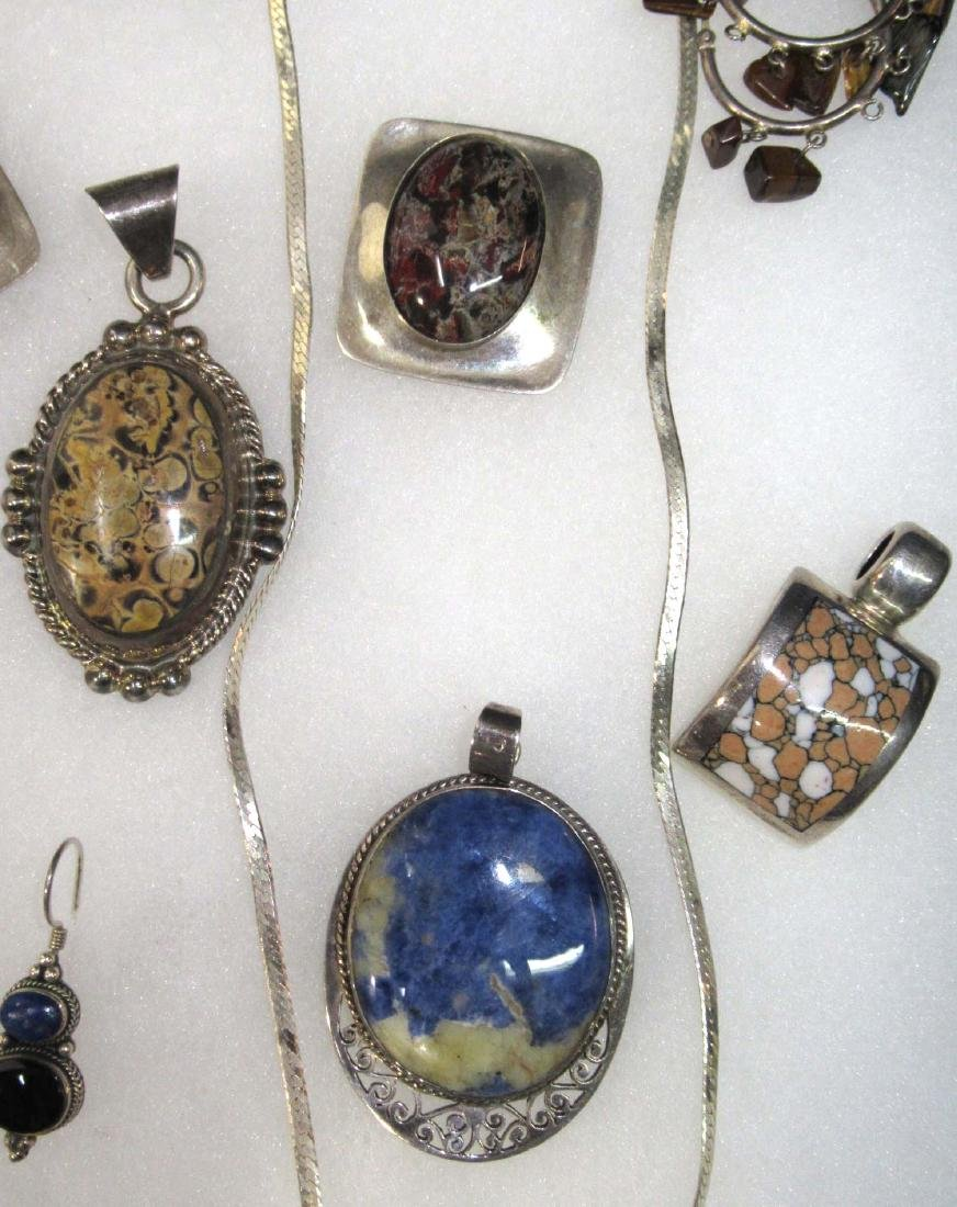Goldstone, Lapis, Multi Stone Sterling Jewelry - 4