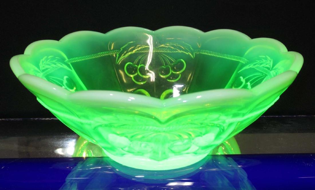 Vaseline Opalescent Bowl