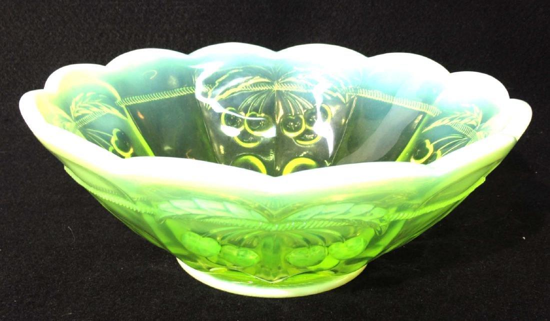 Vaseline Opalescent Bowl - 2
