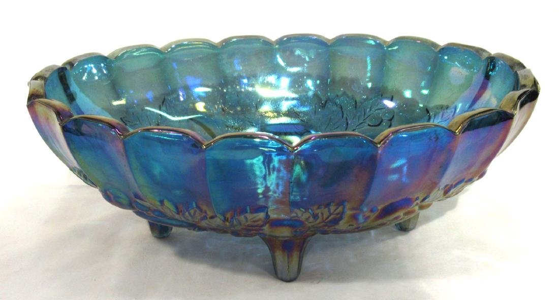 Carnival Glass Console Bowl & Candlesticks - 2