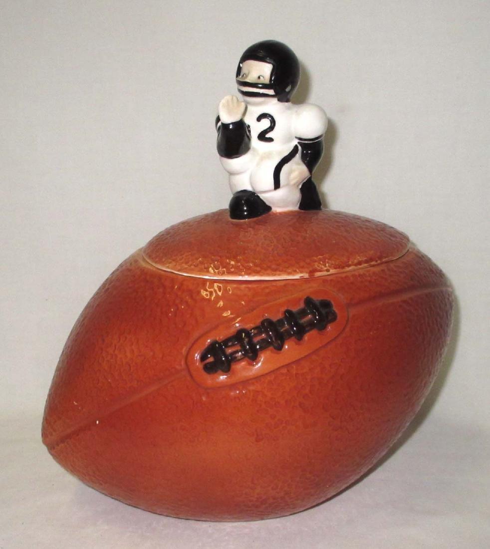 Football Player Cookie Jar