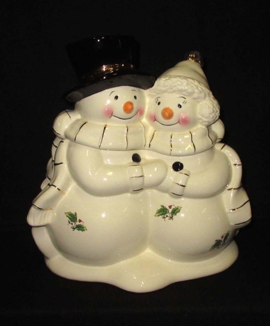 Mr. & Mrs. Snowman Cookie Jar