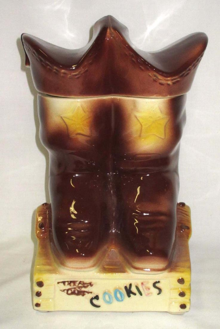 Cowboy Boots Cookie Jar