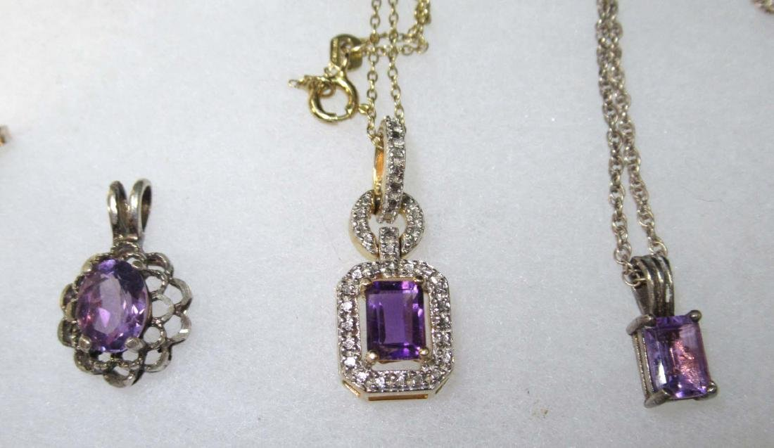 12pc Sterling & Amethyst Jewelry - 3