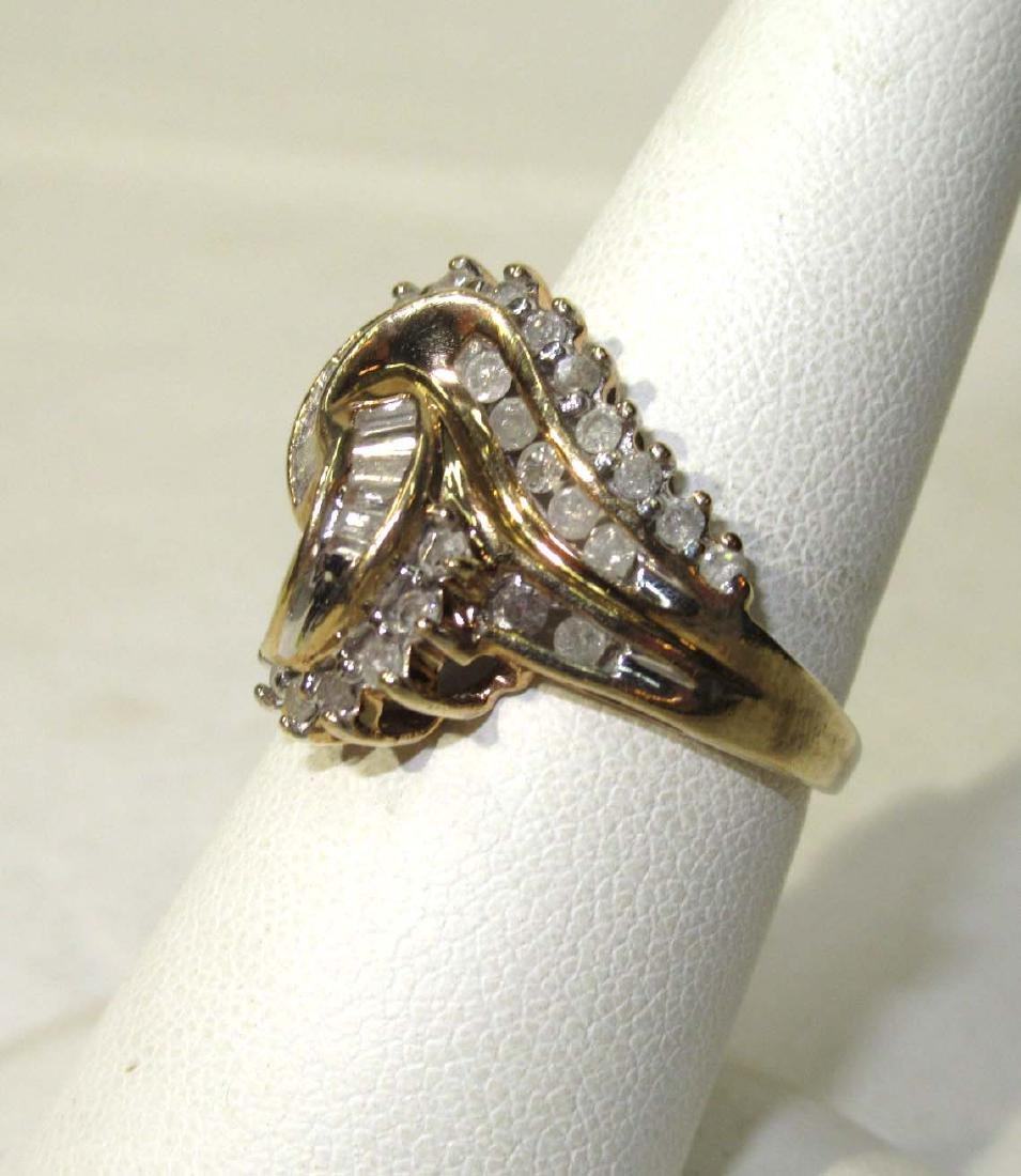 10K Diamond Cocktail Ring