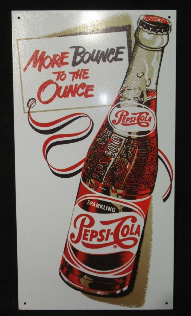 Modern Pepsi Tin Adv. Sign