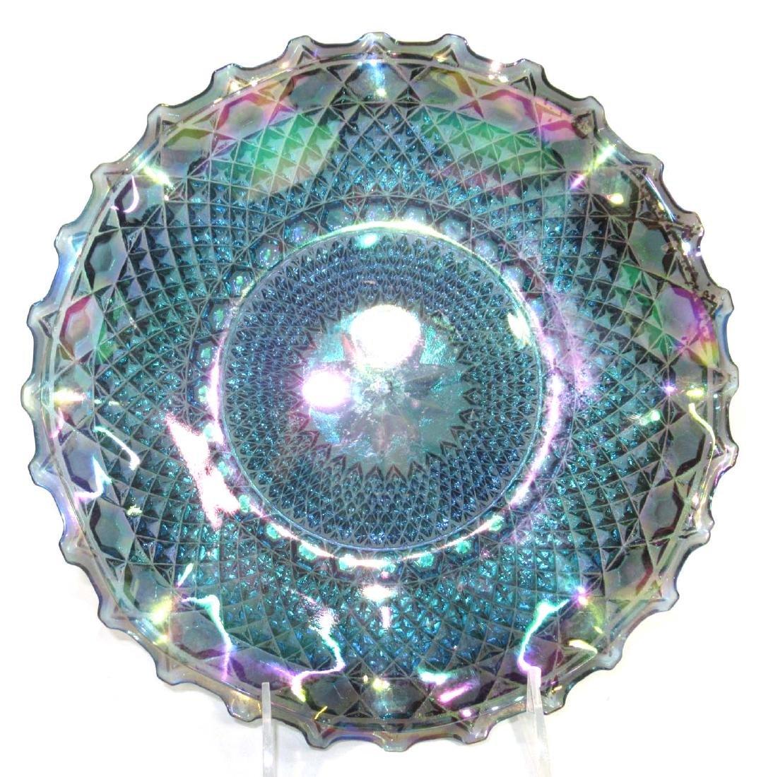2pc Carnival Glass - 2