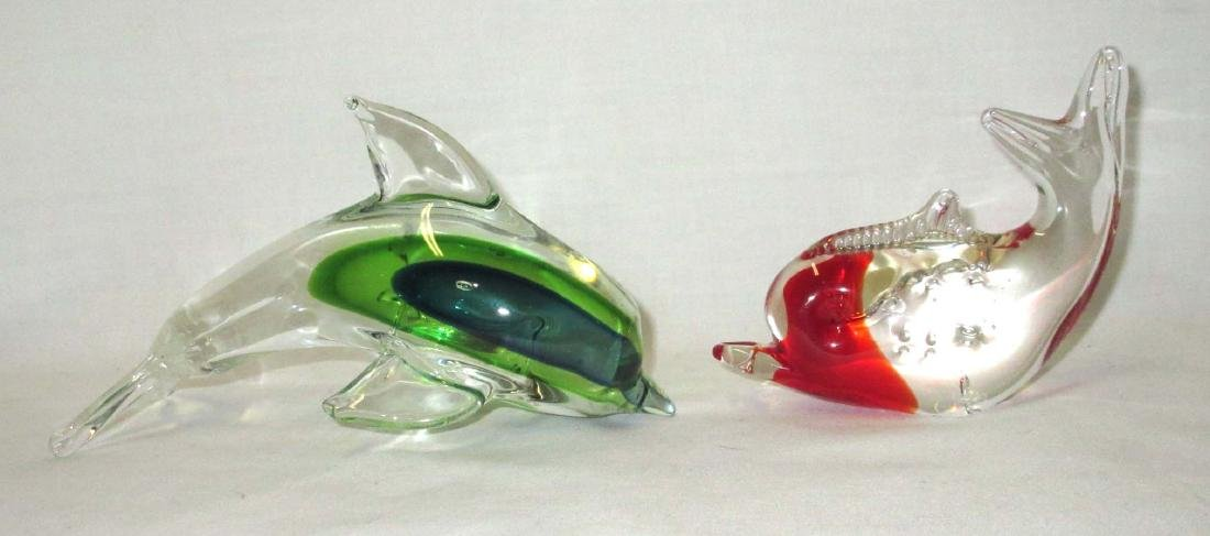 2 Dolphin Paperweights
